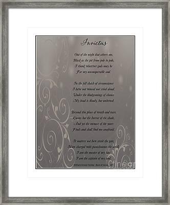 Invictus Tribute 2 Framed Print by Bobbee Rickard