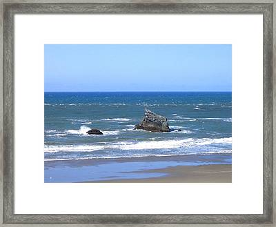 Invigorating Blue Sea Framed Print by Will Borden