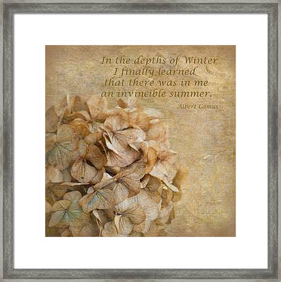 Invinsible Summer Framed Print