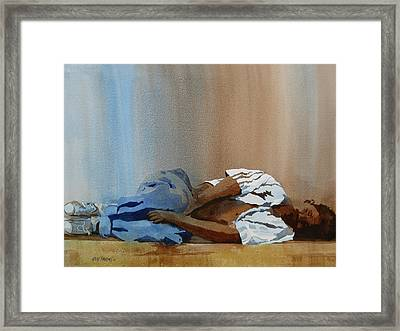 Invisible Man Framed Print by Kris Parins