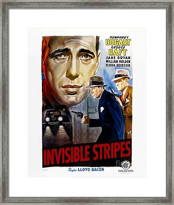 Invisible Stripes Movie Poster - Humphrey Bogart Framed Print