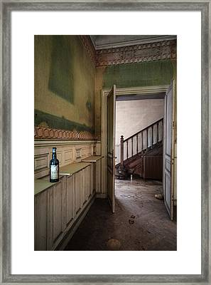 Invitation To Have A Drink Urban Exploration Framed Print by Dirk Ercken