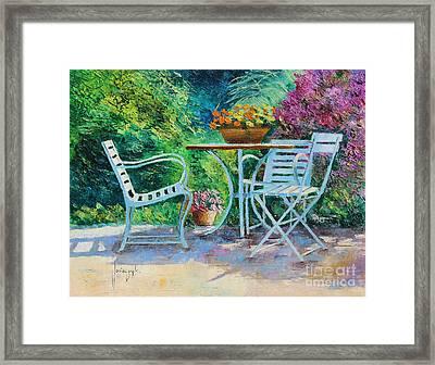 Invitation To The Garden Framed Print