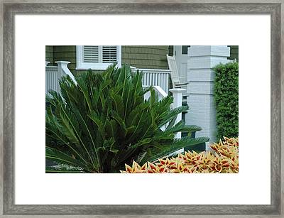 Inviting Front Porch Framed Print by Bruce Gourley