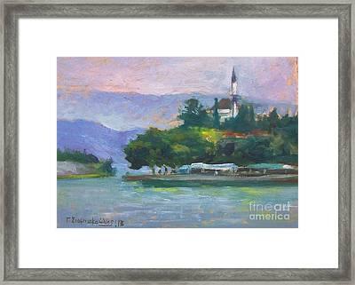 Ioannina Lake Framed Print