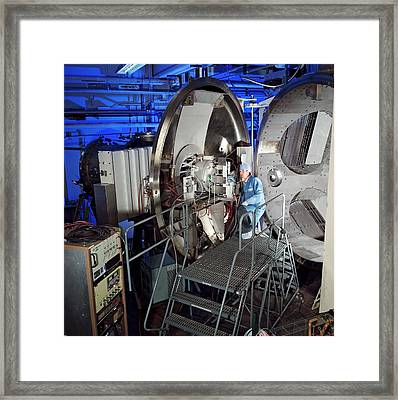 Ion Thruster Testing Framed Print by Nasa