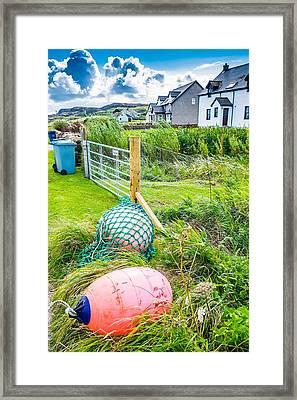 Iona Island Village Scene Framed Print by Cliff C Morris Jr