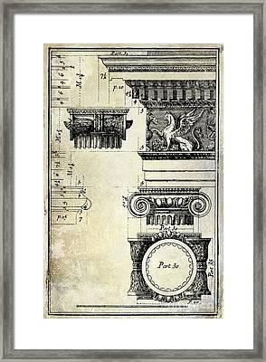 Ionic Capitol Framed Print by Jon Neidert