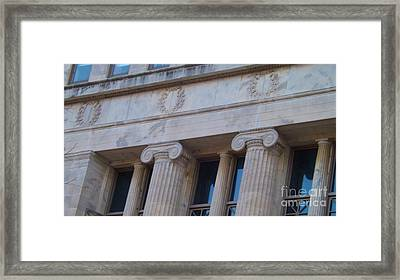 Framed Print featuring the photograph Ionic Columns by Brigitte Emme