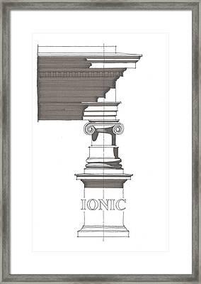 Ionic Order Framed Print