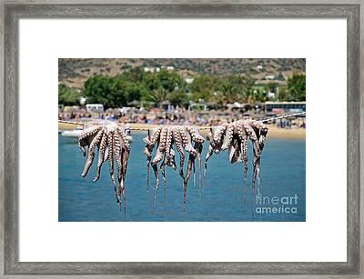Mylopotas Beach Framed Print by George Atsametakis
