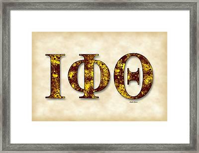 Iota Phi Theta - Parchment Framed Print