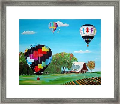 Iowa Balloons Framed Print