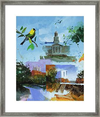 Iowa City Montage Framed Print by Stan Fellows