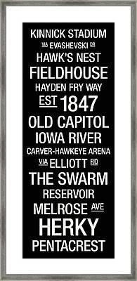 Iowa College Town Wall Art Framed Print by Replay Photos