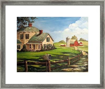 Cherokee Iowa Farm House Framed Print