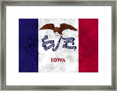 Iowa Flag Framed Print by World Art Prints And Designs