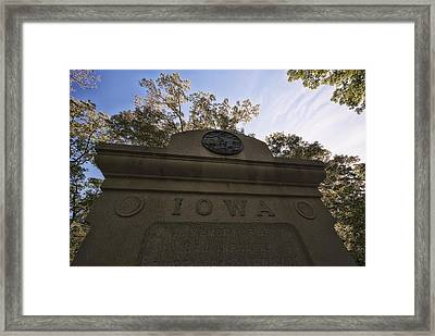 Iowa In The Nest Framed Print
