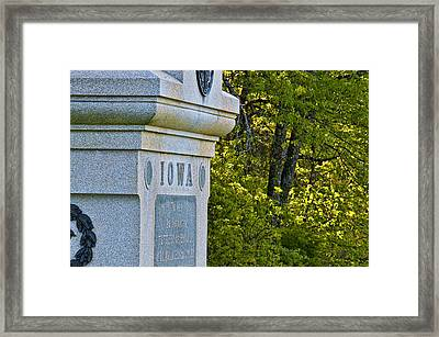 Iowa Framed Print