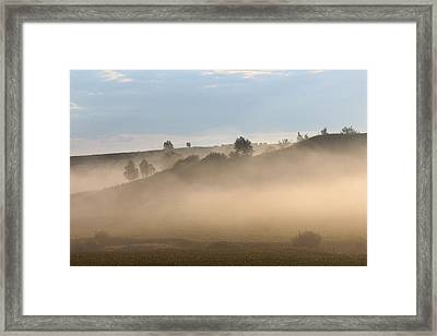 Iowa Morning Framed Print by Angie Phillips