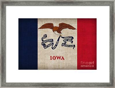 Iowa State Flag Framed Print by Pixel Chimp