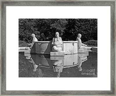 Iowa State University Fountain Of The Four Seasons Framed Print by University Icons