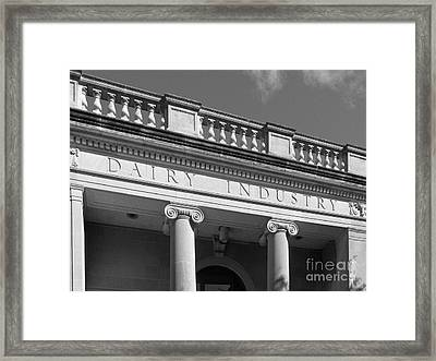 Iowa State University The Dairy Industry Framed Print by University Icons