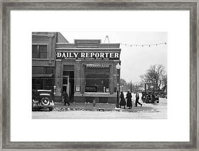 Iowa Street Scene, 1936 Framed Print by Granger