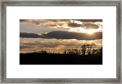 Framed Print featuring the digital art Iowa Sunset by Kirt Tisdale