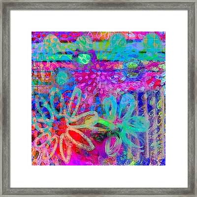 #ipadart #colorful #digitalart #rainbow Framed Print