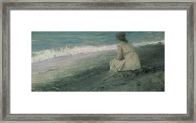 Iphigenia At Tauris Framed Print by Valentin A Serov