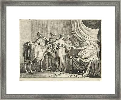 Iphis Changed By Isis Young Man, Cornelis Van Dalen II Framed Print