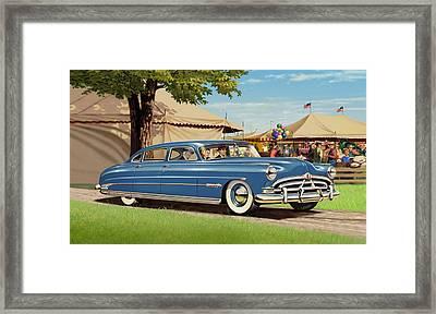 iPhone - Galaxy Case - 1951 Hudson Hornet fair americana antique car auto Framed Print by Walt Curlee