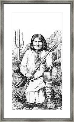 iPhone-Case-Geronimo Framed Print by Gordon Punt