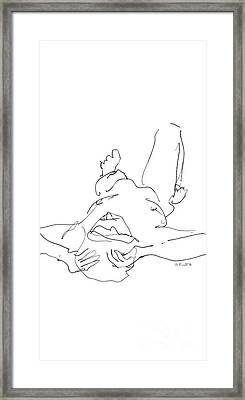 iPhone-Case-Nude-Male4 Framed Print by Gordon Punt