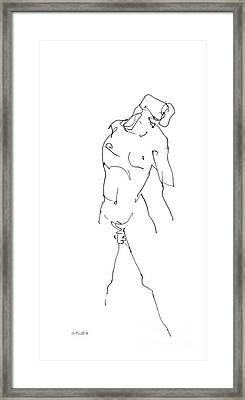 iPhone-Case-Nude-Male5 Framed Print by Gordon Punt