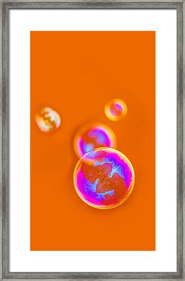 iPhone Case - Orange Bubbles Framed Print by Alexander Senin