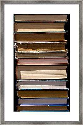 iPhone Case - Pile Of Books Framed Print by Alexander Senin