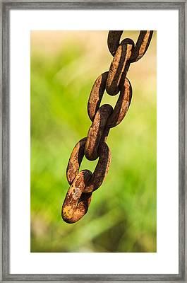 iPhone Case - Rusty Chain Framed Print by Alexander Senin