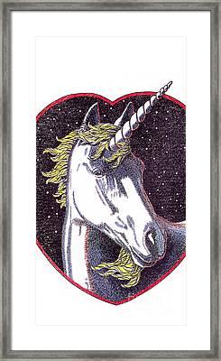 iPhone-Case-Unicorn-2 Framed Print by Gordon Punt