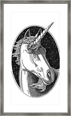 iPhone-Cover-Unicorn-1 Framed Print by Gordon Punt