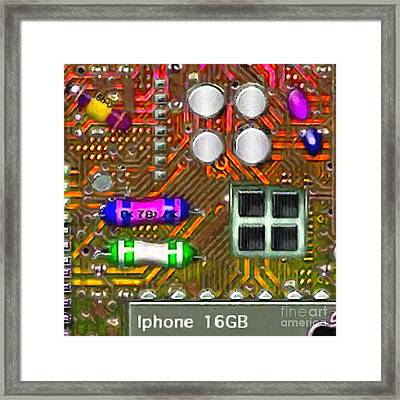 Iphone I-art M118 Square Framed Print by Wingsdomain Art and Photography