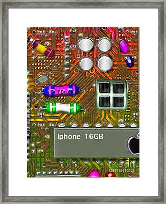Iphone I-art M118 Framed Print by Wingsdomain Art and Photography