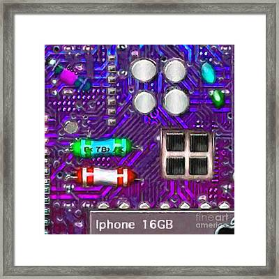 Iphone I-art P128 Square Framed Print by Wingsdomain Art and Photography