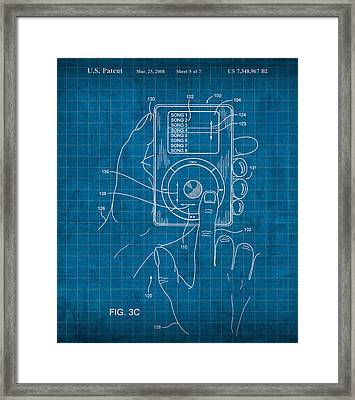 iPod Vintage Patent Blueprint Framed Print by Design Turnpike