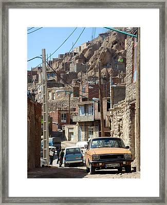Iran Kandovan Cars And Wires Framed Print by Lois Ivancin Tavaf
