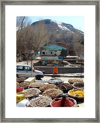 Iran Kandovan Spices Framed Print by Lois Ivancin Tavaf