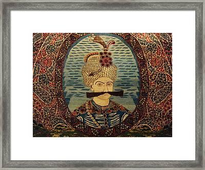 Iran King Abbas Carpet Museum Tehran Framed Print by Lois Ivancin Tavaf
