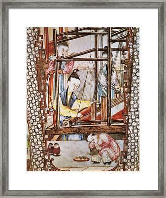 Iran. Tehran. Golestan Palace. Silk Framed Print by Everett