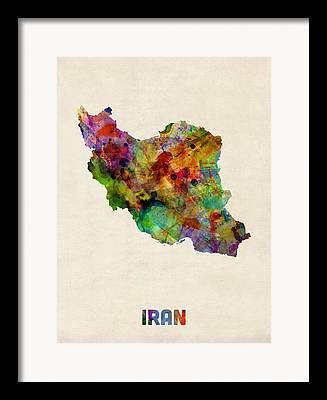 Tehran Framed Prints